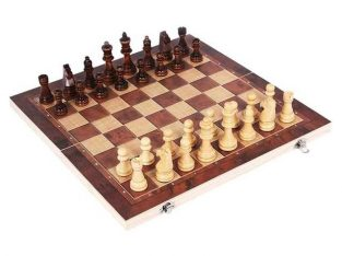 3 in 1 Chess Set Wooden Chess Game, Backgammon, Checkers
