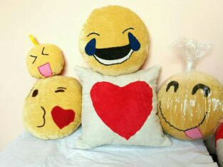 Emoji and decorative pillow