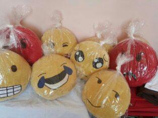 Emoji and decorative pillow