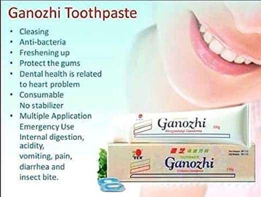 DXN's ganozhi toothpaste