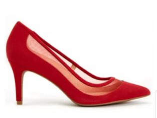 red lace shoe